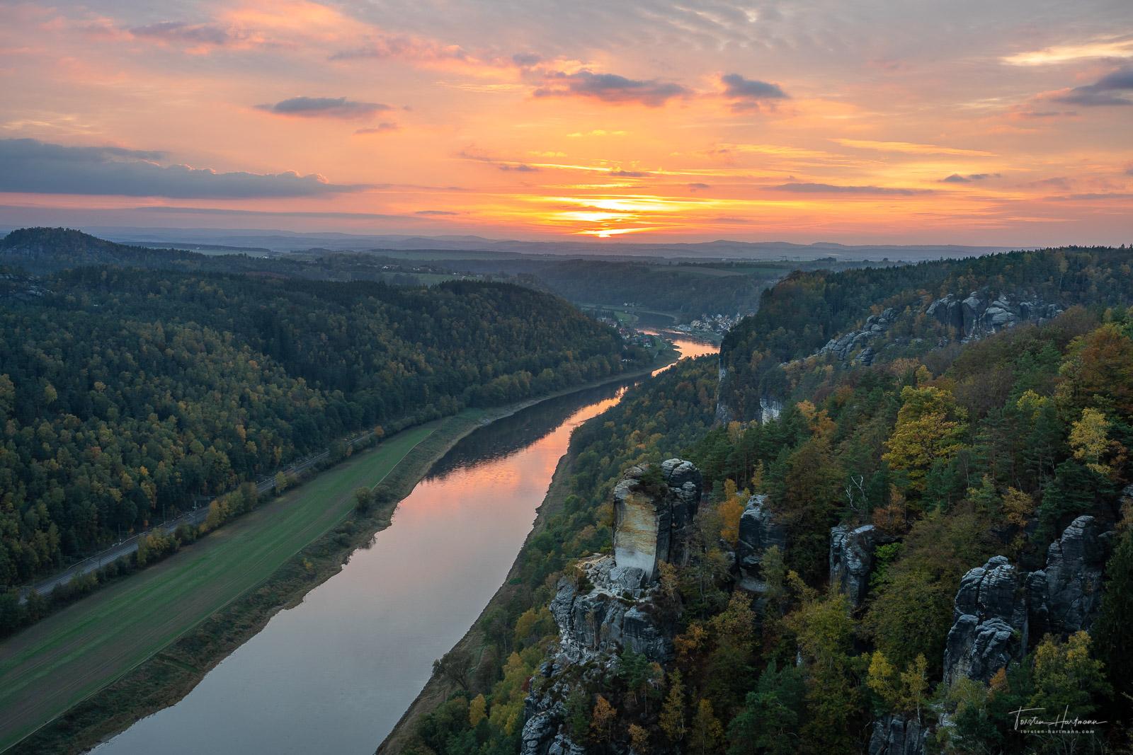 Basteiaussicht - Elbsandsteingebirge