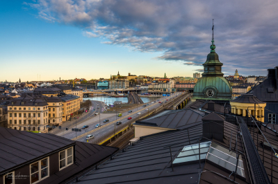Über den Dächern von Stockholm