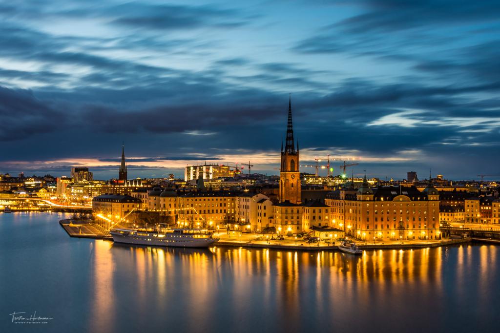 Stockholm zur blauen Stunde