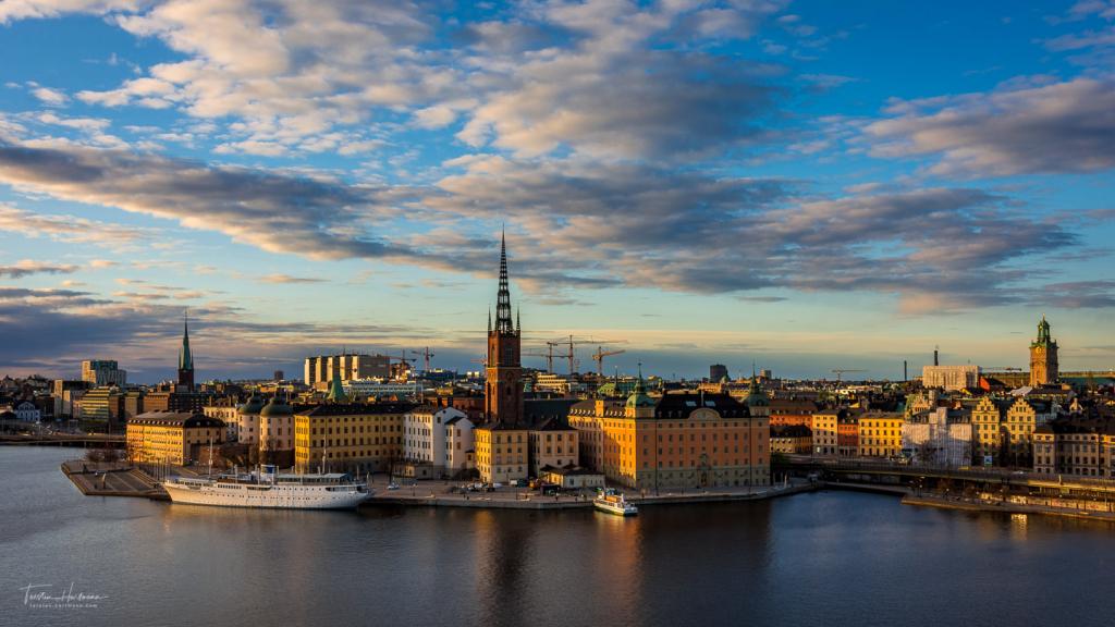Stockholm zum Sonnenuntergang